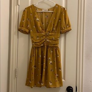 urban outfitters yellow floral dress